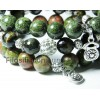 """Набор браслетов из яшмы, серпентина и соколиного глаза """"Благополучие"""" (наб36)"""