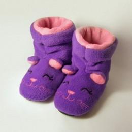 Домашние ботильоны Фиолетовые котята