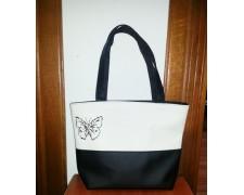 Женская сумка Madonna №18 (белая с черными вставками)