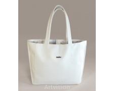 Белая мягкая сумка эко-кожа (ashle01)