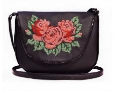 """Женская сумка """"Monika"""" 20 (черная с вышивкой)"""
