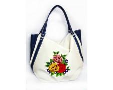 """Женская сумка """"Anabelle"""" №20 (белая с вышивкой)"""
