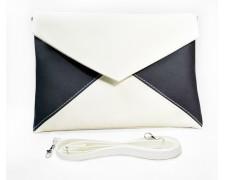 """Женская сумка - клатч """"Emily"""" 5 (черно-белая)"""