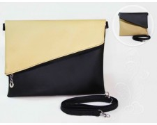 "Женская сумка ""Tiffany"" 6 (бежево-черная)"