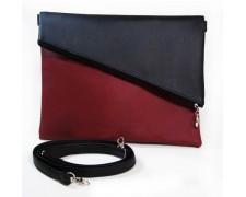 """Женская сумка """"Tiffany"""" 9 (бордово-черная)"""