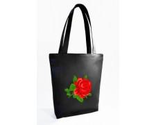"Женская сумка ""Роза"" ( черная) Б320"