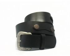 Классический кожаный ремень из черной кожи (ВТ-13)