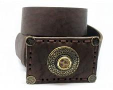 Оригиальный кожаный ремень ручной работы (коричневый) (ВТ-20)