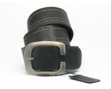 Классический кожаный ремень черный мужской (ВТ-3)