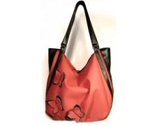 """Женская сумка """"Anabelle"""" №1 (персиковая с бабочками)"""