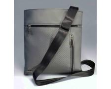 Мужская сумка – планшет «Leon» №15 серая матовая