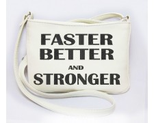 "Сумка мини №259 "" Faster better and stronger """