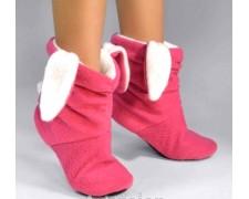 Розовые домашние сапожки-зайчики детские или взрослые td12