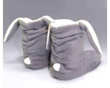 Серые домашние сапожки-зайчики детские или взрослые td13