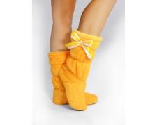 Махровые тапочки-сапожки желтые tm05Yellow