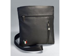 Мужская сумка-планшет через плечо черная летняя «Leon» №01