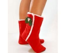 """Новогодние сапожки для дома """"Merry Christmas"""" (арт. tf47)"""