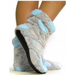 Тапочки сапожки серо-голубые в стиле Teddy Bear tm02Teddy