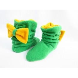 "Домашние тапочки-сапожки   ""Лимончик"" арт. Tb_lgreen-yellow"