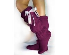 Домашние соблазнительные сапожки фиолетовые tf27 (высокие)
