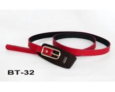Изысканный женский ремень из кожи (красно-черный) (ВТ-32)