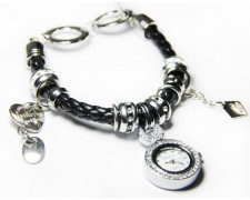 Часы в стиле Pandora (черные) (панд42)