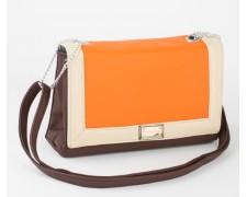 Женская сумочка Chanel оранжево-коричневая (chanel03)