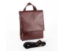 Мужская сумка - планшет под рептилию коричневая