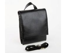 Мужская сумка Bred черная без надписей (br1)