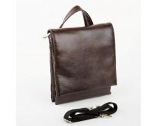 Мужская сумка-планшет коричневая без надписей (br2)