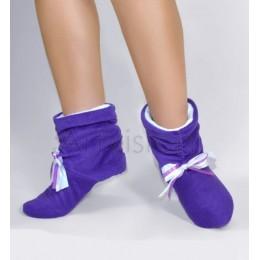 Домашние сапожки фиолетовые с бантиком арт. tf15