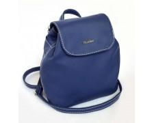 Женский маленький рюкзак-сумка синий 07