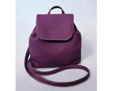Женский маленький рюкзак-сумка Спелая Слива 09
