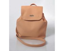 Женский маленький рюкзак-сумка бронзового цвета 13