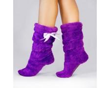 """Махровые тапочки-cапожки фиолетовые tm09 """"Purple"""""""