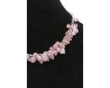 Ожерелье из розового кошачьего глаза (микс25)